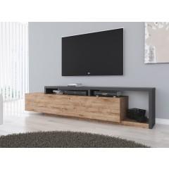 TV-Meubel Bello - Eiken - Antraciet - 219 cm