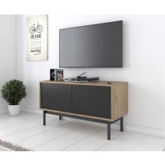 TV-Meubel Bryton - Eiken - Grijs - 104 cm