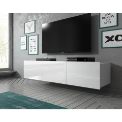 TV-Meubel Calgary - Wit - 150 cm - Hangend of staand