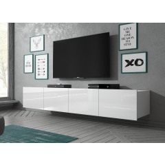 TV-Meubel Calgary - Wit - 200 cm - Hangend of staand