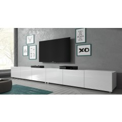 TV-Meubel Calgary - Wit - 300 cm - Staand