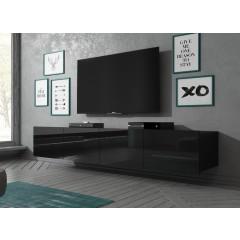 TV-Meubel Calgary - Zwart - 200 cm - Hangend of staand