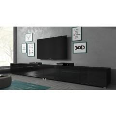 TV-Meubel Calgary - Zwart - 300 cm - Staand