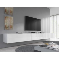 TV-Meubel Flame - Wit - 300 cm