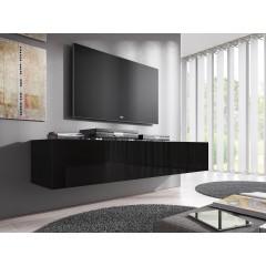 TV-Meubel Flame - Zwart - 160 cm - ACTIE