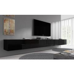TV-Meubel Flame - Zwart - 320 cm