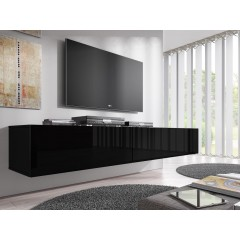 TV-Meubel Flame - Zwart - 200 cm