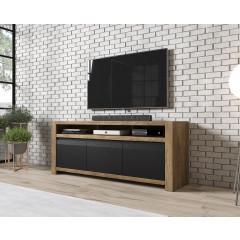 TV-Meubel Herman - Zwart - Eiken - 160 cm