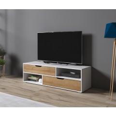 TV-Meubel Ivano - Wit - Eiken - 135 cm