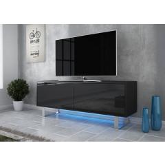 TV-Meubel Knight - Zwart - 140 cm