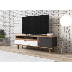 TV-Meubel Macon - Grijs - Wit - Eiken - 120 cm