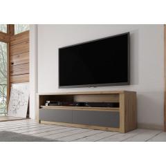 TV-Meubel Melody - Grijs - Eiken - 130 cm - ACTIE
