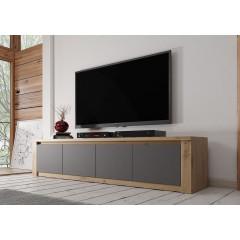 TV-Meubel Melody - Grijs - Eiken - 170 cm - ACTIE