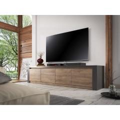 TV-Meubel Monaco - Eiken - Grijs - 4 deuren - 170 cm