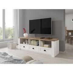 TV-Meubel Parello - Wit - Eiken - 160 cm