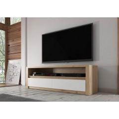 TV-Meubel Poseidon - Eiken - Wit - 130 cm