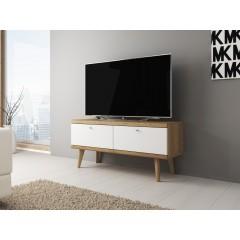 TV-Meubel Primavera - Wit - Licht eiken - 107 cm