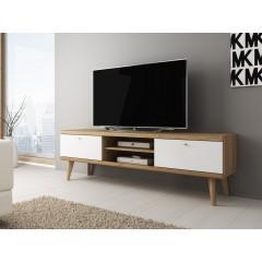 TV-Meubel Primavera - Wit - Licht eiken - 160 cm - ACTIE