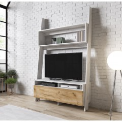 TV-Meubel Robin - Wit eiken - Eiken - 120 cm