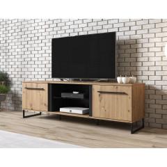 TV-Meubel Saturn - Eiken - Zwart - 170 cm