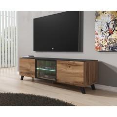 TV-Meubel Triptis - Eiken - Zwart - 150 cm