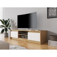 TV-Meubel Xavi 2 - Eiken - Wit - 137 cm