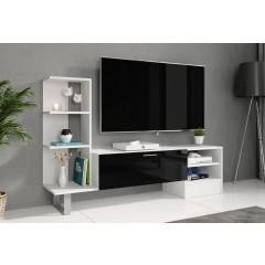 TV-Meubel Yento - Wit - Zwart - 152 cm