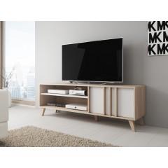 TV-Meubel Mira - Wit - Licht eiken - 150 cm - ACTIE