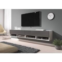 TV-Meubel Asino - Grijs - Wit - 200 cm