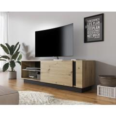 TV-Meubel Ashley - Eiken - Grijs - 138 cm
