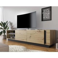 TV-Meubel Ashley - Eiken - Grijs - 187 cm