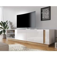 TV-Meubel Ashley - Wit - Eiken - 187 cm