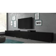 TV-Meubel Calgary - Mat Zwart - 300 cm - Staand of Hangend