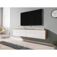 TV-Meubel Dixon - Wit - Eiken - 140 cm