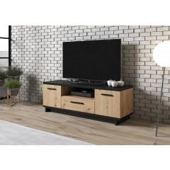 TV-Meubel Incala - Eiken - Zwart - 135 cm