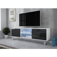 TV-Meubel Knight 2 - Wit - Zwart - 160 cm