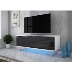 TV-Meubel Knight - Wit - Zwart - 140 cm