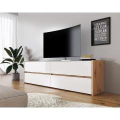 TV-Meubel Morey - Wit - Eiken - 188 cm