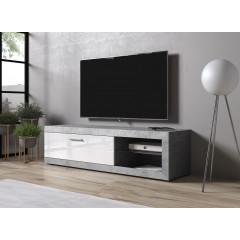 TV-Meubel Ralf - Betonlook - Wit - 162 cm - ACTIE