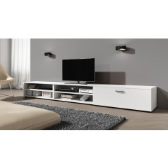 TV-Meubel Sandro - Wit - 255 cm