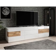 TV-Meubel Sublime - Wit - Eiken - 206 cm