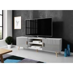 TV-Meubel Vyenna - Grijs - Wit - 180 cm