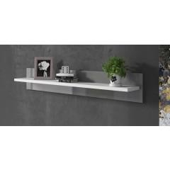 Wandplank Vyenna - Grijs - Wit - 120 cm