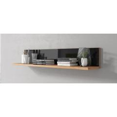 Wandplank Morey - Zwart - Eiken - 137 cm - ACTIE