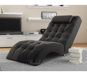 Chaise longue Cherry - Zwart