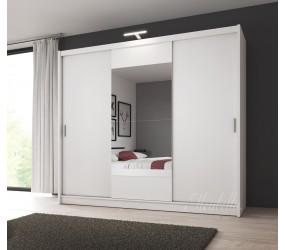 kledingkast houston wit 250 cm met led verlichting actie