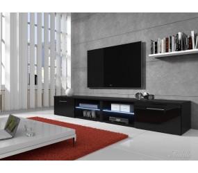 TV-meubel Bash II LED - Zwart - 240 cm