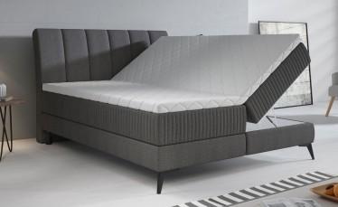 Boxspring Acotta - Grijs - Stof - 160x200 cm - Compleet
