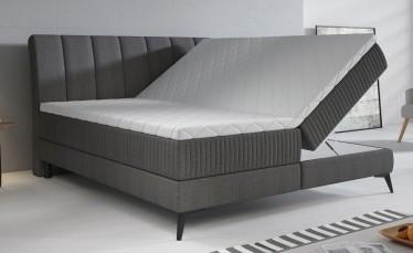 Boxspring Acotta - Grijs - Stof - 180x200 cm - Compleet - ACTIE