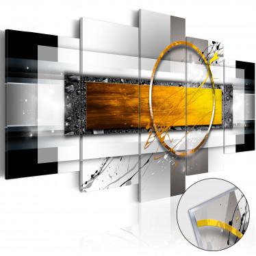 Afbeelding op acrylglas Golden Shot - 100x50 cm